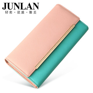 LAN genuine ladies wallet large zip around wallet money clip, junlan June 30 percent leather wallets to bulk-bag lady