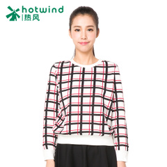 Hot spring and autumn ladies ' casual Plaid jacket long sleeve slim coat sweater girl Korean version flows 20H5714