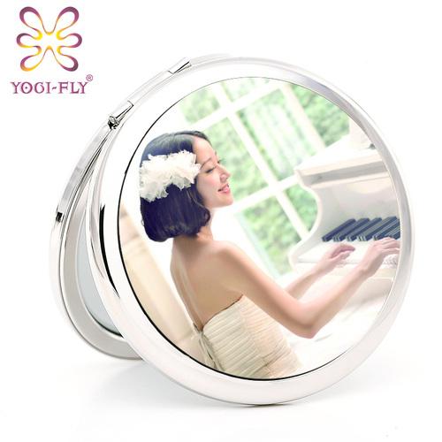 亚格菲随身化妆镜便携折叠DIY照片相片定制创意节日礼物闺蜜礼品