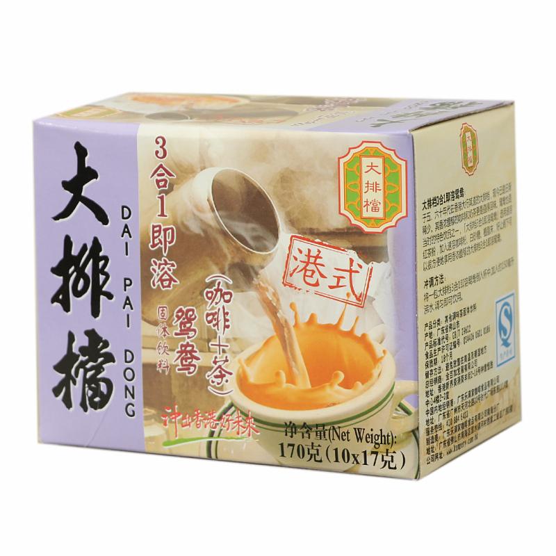 香港3合1速溶奶茶咖啡 大排档三合一鸳鸯咖啡奶茶170g 港式风味