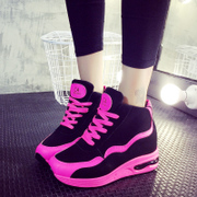 2015 winter season new Korean casual running shoes sneakers platform sneakers women's shoes and cotton and velvet shoes