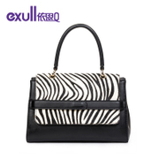 Exull/exull Q2015 new black zebra magnetic clasp hand in winter fashion shoulder bag for 15340167