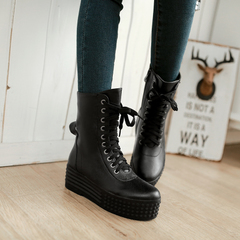 With Martin before the 2015 designer shoes for fall/winter waterproof boots round-headed female European wind side zipper short boots women's boots