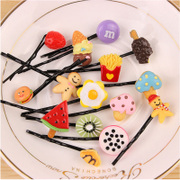 Cool na Korean female headdress fruits lemon Apple Watermelon hair clips side clips one clip 6003