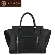 Honggu counters authentic red Valley Ms 2015 new Europe casual stitching leather portable bag 6696