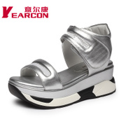 Kang shoes 2015 end of genuine new Sandals comfortable wedges platform high heel open toe breathable women's sandals