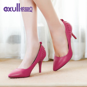 Exull q2015 autumn new pointed stiletto shoes fashion rivet high heel women shoes 15170311