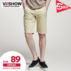 Summer new fashion shorts men's straight leg Pocket wave viishow men pants shorts 5 minutes of pants men