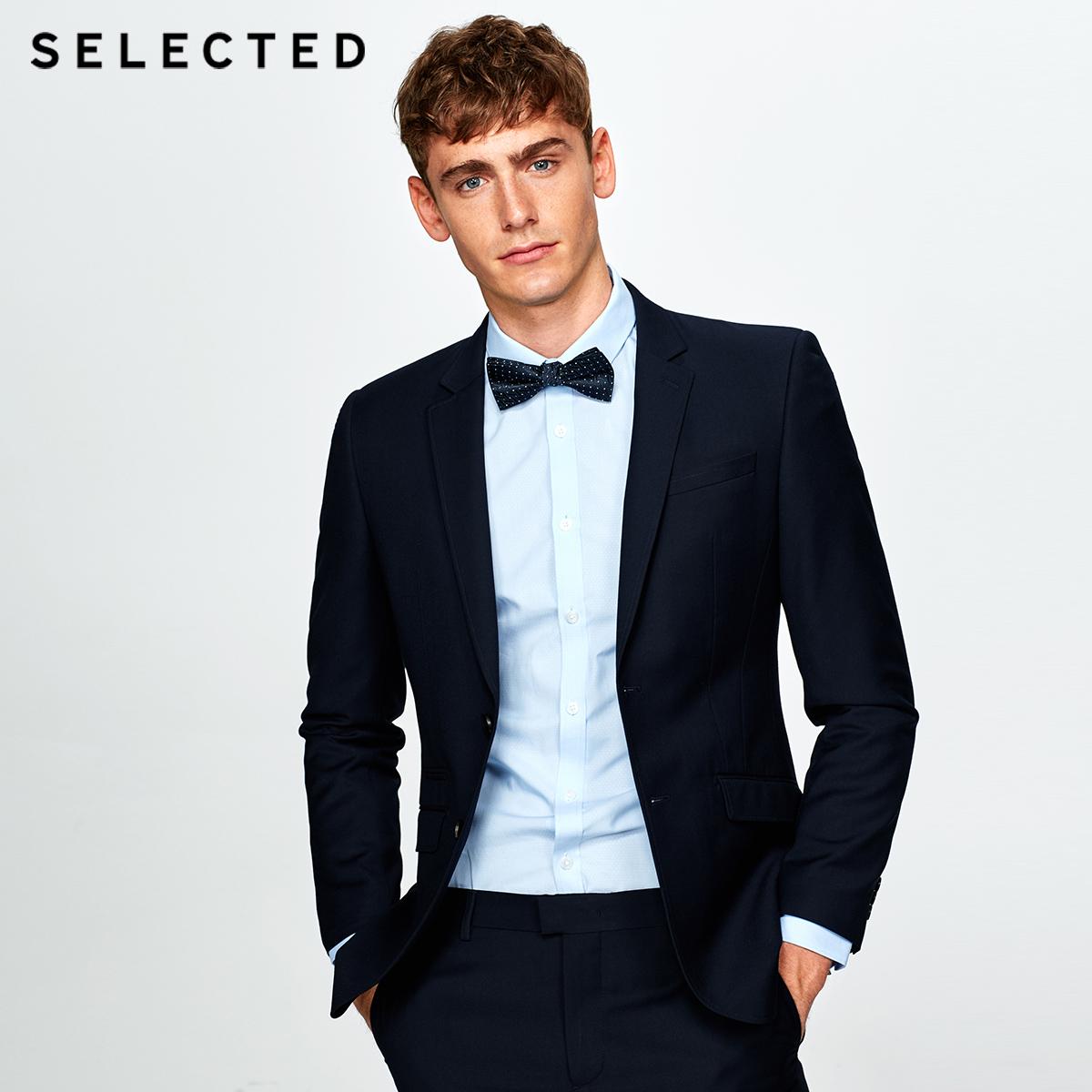 聚SELECTED思莱德秋季新款挺括商务正装男士合体西服T|41735X505