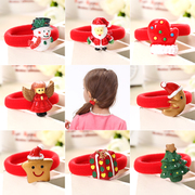 Know Richie children''s hair accessories Christmas Santa Baby hair band girls hair hair rubber band ropes