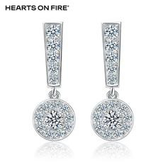「HOF」Hearts On Fire 新品白色18K金10分钻石耳钉UU 127