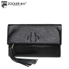 Jules 2015 fashion leather handbag crocodile pattern shoulder bags diagonal in the new Europe and the small bag clutch bag