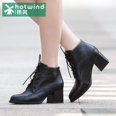 Hot new high with chunky heels short boots women casual winter boots with short tube boots woman in Europe and America 75H5951