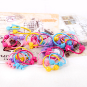 Know Richie color children small elastic hair band hair cute Korean girls in Candy-colored jewelry ring rope end