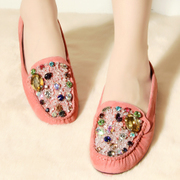 Non genuine rhinestone decoration new counters peas and leisure shoes WGAK60701C