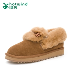 Hot cow suede winter boots women snow boots and cashmere thickened student flat boots at the end of the tide H89W5421