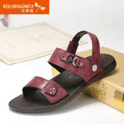 Red Dragonfly leather men shoes authentic New England 2015 summer fashion trends men's Sandals men shoes
