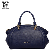 Early spring new handbag leather Wanlima/around 2016 solid luxury fashion Lady bag handbag