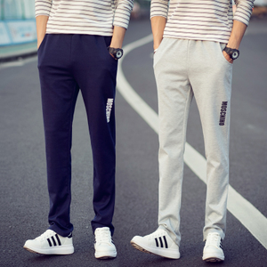 JVI Bohou autumn and winter sports pants male models men's casual pants tide big yards Wei pants solid color slacks