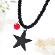Good European and American female long exaggerated fashion star pendant necklace accessories Joker autumn necklace trend jewelry package mail