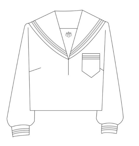 服水手服银灰三本长袖服