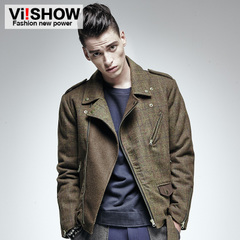 Viishow men's spring 2015 new zipper placket Polo Lady slim Jack jacket men coat men