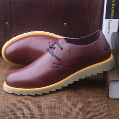 New fashion trend of shoe BENESOL/State game Joker shoes round tie business and leisure shoes low cut soft bottom