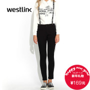 Westlink/West fall 2015 new removable elastic suspenders student Aaron strap women's trousers