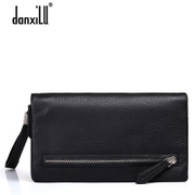 2015 new business-casual men's leather clutch bag handbag leather men's long wallet