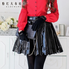 Skirt skirt pink doll summer 2015 new ladies skirt dress set black tide