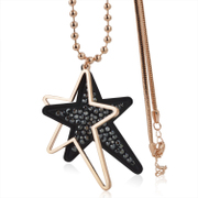Mu-Mu-promise ornaments star stylish crystal long necklace sweater chain hundreds of matching accessories