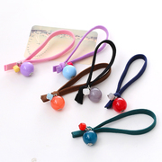 Know Connie hair accessories Korean solid-colored knotted string balls Candy-colored hair rubber band rope tie ring jewelry