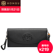 Honggu 2015 counters authentic new style fashion leisure red Valley folk style leather ladies wallet 2237