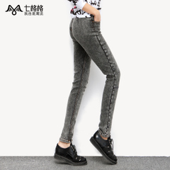 Seven space space OTHERCRAZY wash stretch skinny jeans pencil pants feet old woman