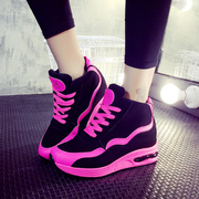 2015 new Korean wave in autumn colour matching platform women's singles round head strap casual shoes students running shoes
