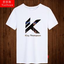克莱汤普森t恤短袖男士学生纯rr11半截袖gg衣运动服夏体恤