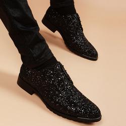 春季男士英伦韩版尖头潮流皮鞋青年真皮内增高6cm发型师软底鞋子