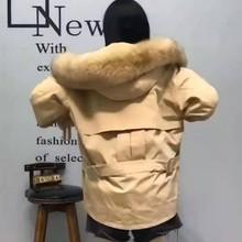(10) 派克服女os6式冬兔毛ki貉子毛领外套中长式大衣可拆卸