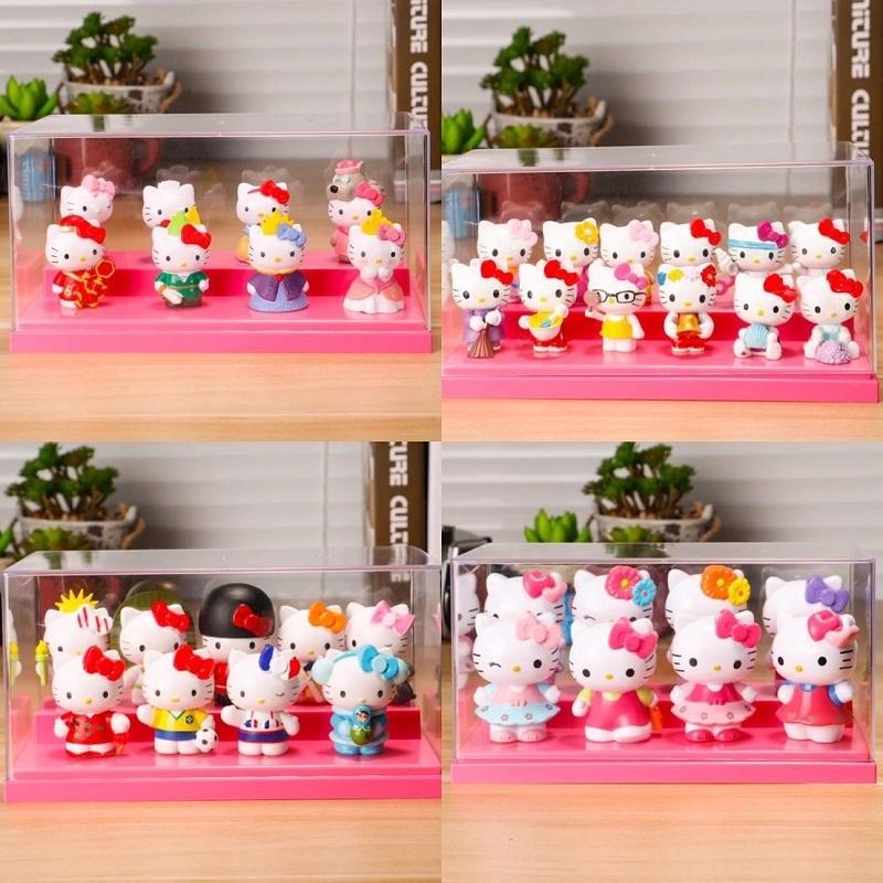 新版hello kitty手办公仔模型 七夕凯蒂猫KT猫创意摆件生日礼物