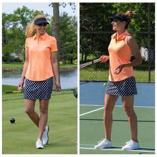 golf球高尔夫女装春夏衣服短袖t恤翻领速干网球服运动显瘦大码图片
