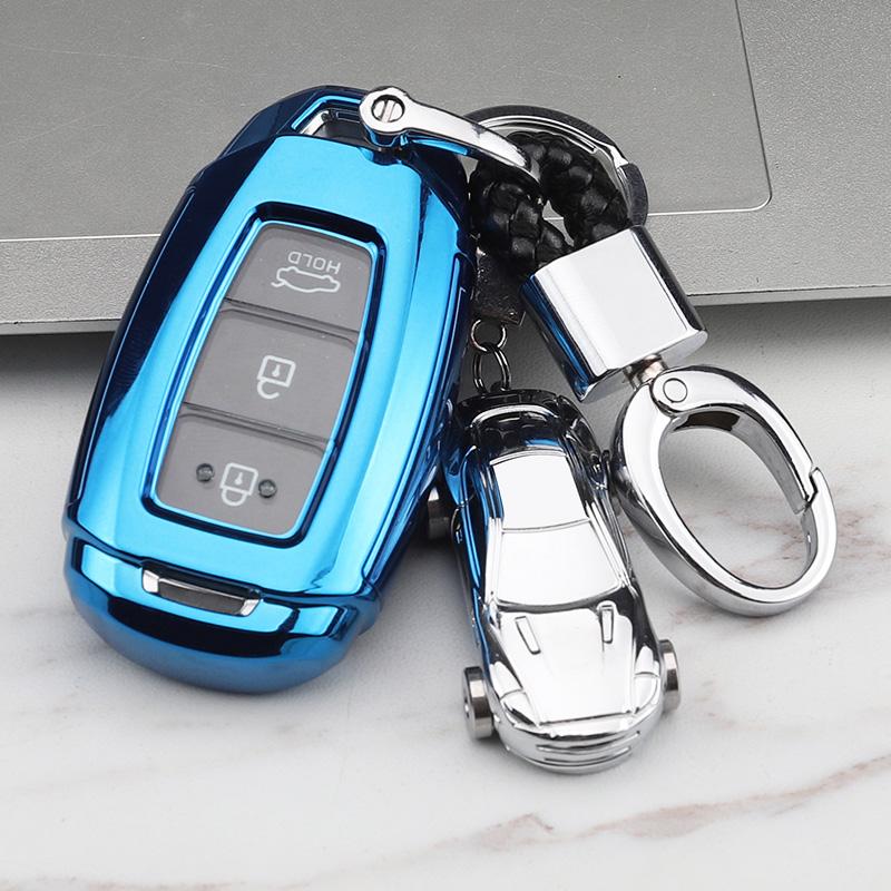 北京现代菲斯塔全新胜达汽车钥匙包套壳19款新一代ix35包2019款扣