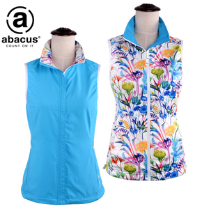Golf clothing Abacus ladies reversible vest 2229 windproof thermal vest casual sports top