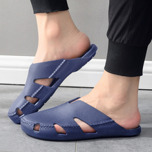 超柔软包头沙滩洞洞拖鞋男款越南西si13乳胶镂ya脚温突凉鞋