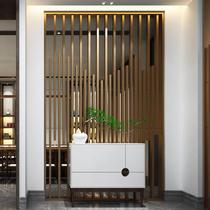 不鏽鋼屏風隔斷花格金屬鏤空輕奢中式現代玫瑰金酒店客廳玄關定製