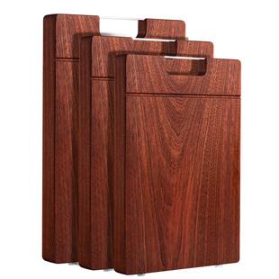 双枪加厚乌檀木砧板切菜板整木实木家用防霉擀面案板粘板刀板菜墩