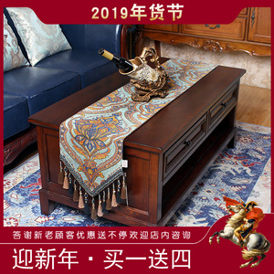 Table flag European modern minimalist American Nordic coffee table TV cabinet dining table cloth bed flag bed tail scarf decoration strip