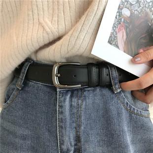 男女通用皮带休闲 简约黑色细腰