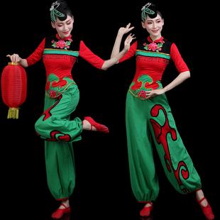 秧歌服演出服2020新款灯笼舞腰鼓队服装古典舞蹈套装成人女广场舞图片