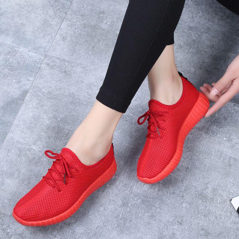 春夏新款老北京布鞋女网鞋透气网面防滑运动休闲鞋网眼小红鞋单鞋