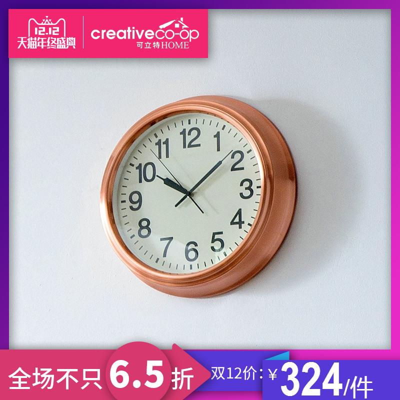 可立特   creative home铜质复古简约壁挂钟 时尚墙面时钟